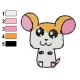 Hamtaro Embroidery Design 17