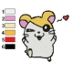 Hamtaro Embroidery Design 31