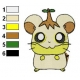 Hamtaro Embroidery Design 40