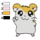 Hamtaro Embroidery Design 42