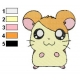 Hamtaro Embroidery Design 43