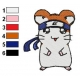 Hamtaro Embroidery Design 52