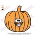 Happy Halloween Cartoon Pumpkin Embroidery Design