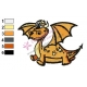 Happy Orange Dragon Embroidery Design