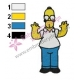 Homer Simpson Embroidery Design
