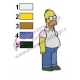 Homer Simpson Standing Embroidery Design
