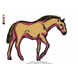 Horse Embroidery Design 1