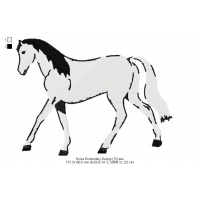 Horse Embroidery Design 13