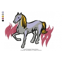Horse Embroidery Design 14