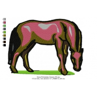 Horse Embroidery Design 15