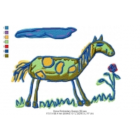 Horse Embroidery Design 16