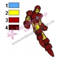 Iron Man Embroidery Design 09