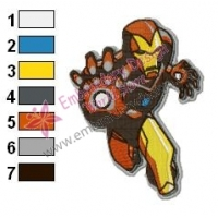 Iron Man Embroidery Design 11
