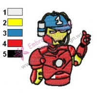 Iron Man Helmet Embroidery Design