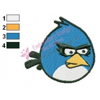 Jay Angry Birds Embroidery Design