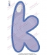 K Alphabet Jelly Embroidery Design