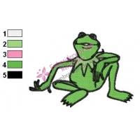 Kermit Muppets Embroidery Design 02