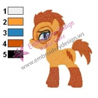 Kid Flash Pony Teen Titans Embroidery Design