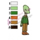 Kif Kroker Futurama Embroidery Design 02