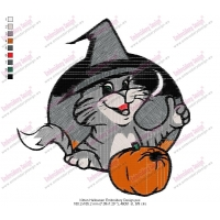 Kitten Halloween Embroidery Design