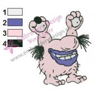 Krumm Real Monsters Embroidery Design 02