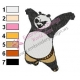 Kung Fu Panda Embroidery Design 10