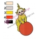 Laa Laa Playing Time Embroidery Design
