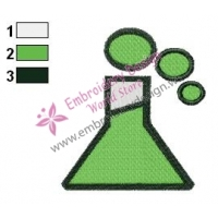 Laboratory Bottle Muppets Embroidery Design