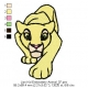Lion Kid Embroidery Animal_07