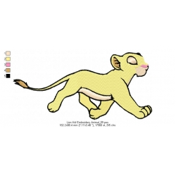 Lion Kid Embroidery Animal_09