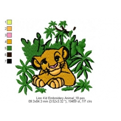 Lion Kid Embroidery Animal_18