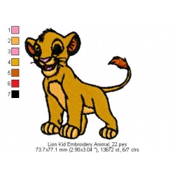 Lion Kid Embroidery Animal_22