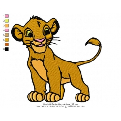 Lion Kid Embroidery Animal_35