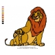 Lion King Embroidery Animal_03