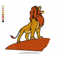Lion King Embroidery Animal_04