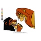 Lion King Embroidery Animal_05