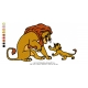 Lion King Embroidery Animal_07