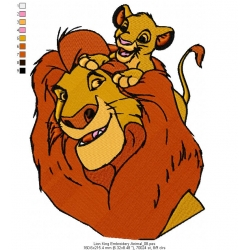 Lion King Embroidery Animal_08