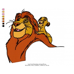 Lion King Embroidery Animal_09