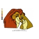 Lion King Embroidery Animal_11
