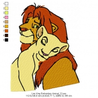 Lion King Embroidery Animal_12