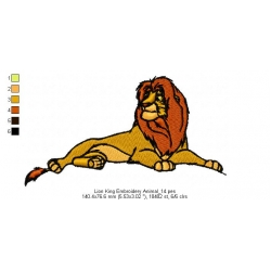 Lion King Embroidery Animal_14