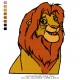 Lion King Embroidery Animal_15