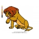 Lion King Embroidery Animal_19