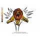 Lion King Embroidery Animal_20