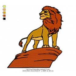 Lion King Embroidery Animal_21