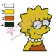 Lisa Simpson Simpsons Embroidery