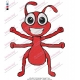 Little Red Ant Embroidery Design 02