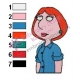 Lois Griffin Family Guy Embroidery Design