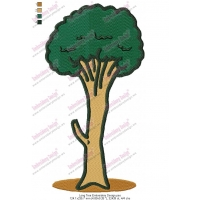 Long Tree Embroidery Design